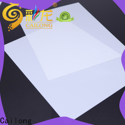 Cailong diffusing transparent polycarbonate sheet with good price for aerospace