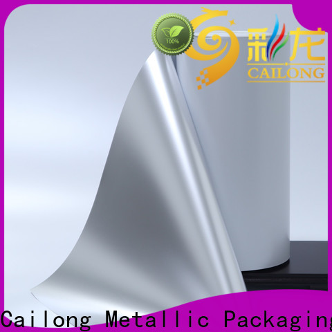 Cailong Vacuum metalized polyester film effectively used for stickers