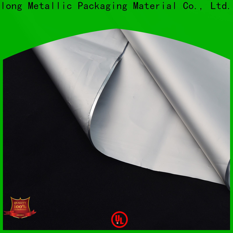 Cailong metalized plastic sheet check now used for labels