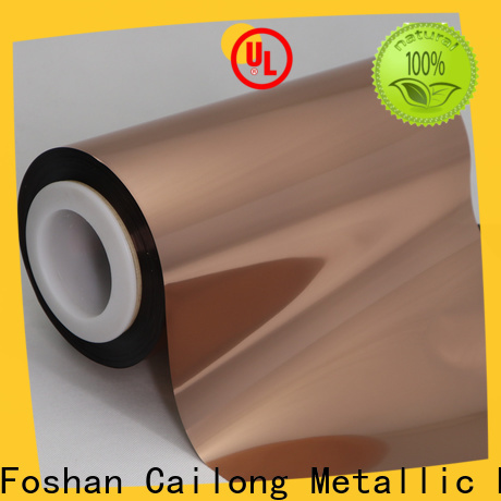 Good chemical properties Copper Metallized PET Film copper directly sale used for labels
