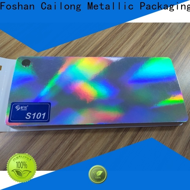 Cailong superior transparent holographic film bulk production for material