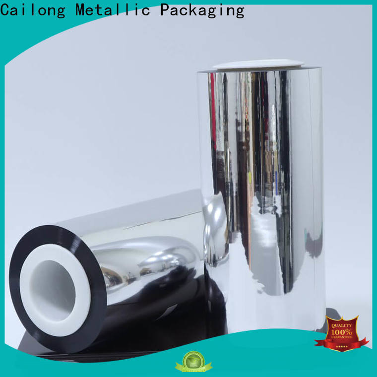 Cailong UV light protection metalized pet film cost used for stickers