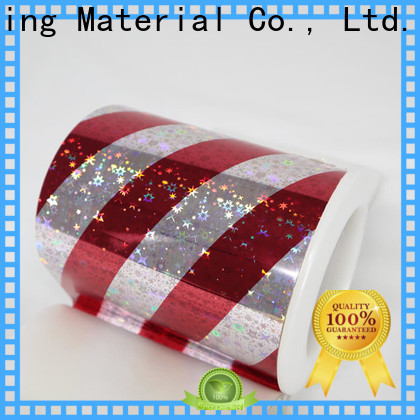 Cailong polyester holographic plastic sheets bulk production for daily chemicals