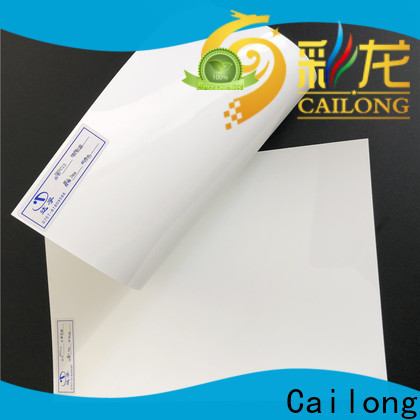 Cailong diffusing clear plastic sheets in different color for optical disk substrates