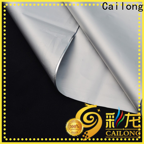 Cailong high-quality metalized plastic free design for Decorative