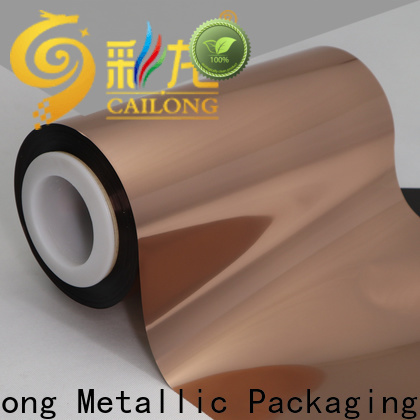 Cailong nice Copper Metallized PET Film from China for medicine