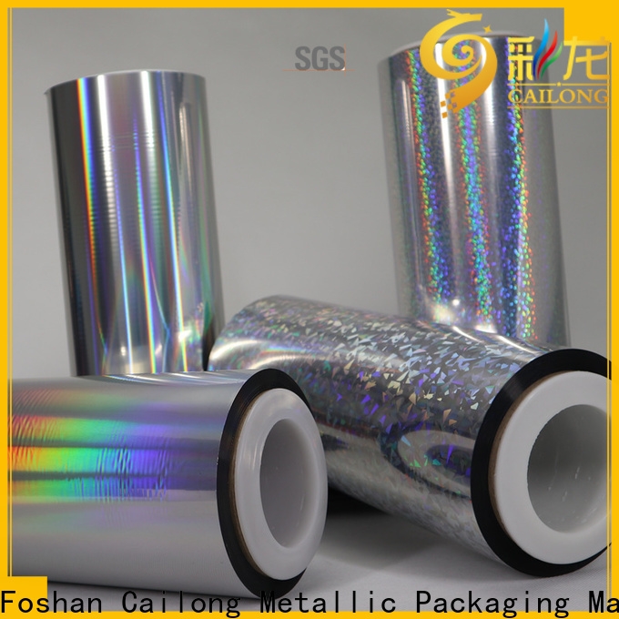 Cailong film transparent holographic film order now for Tinplate