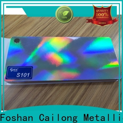Cailong superior transparent holographic film factory price for tobacco