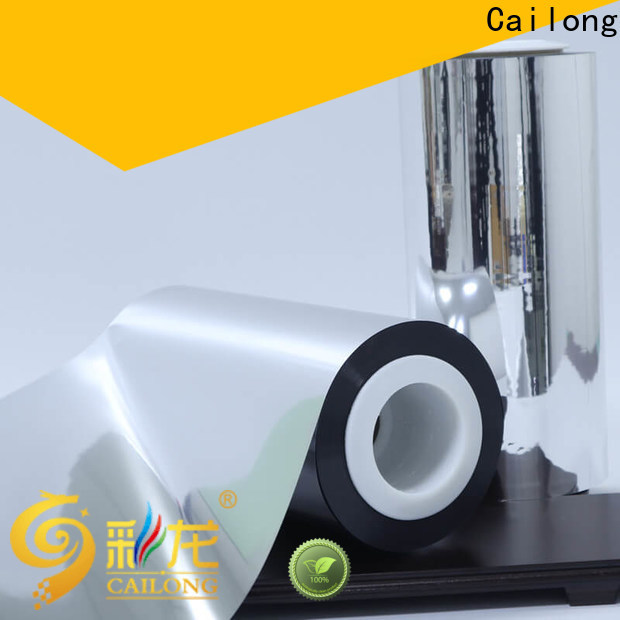 Cailong water vapour pet metalized popular for product
