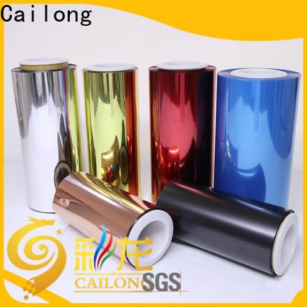Cailong color pvc film producer for electronics