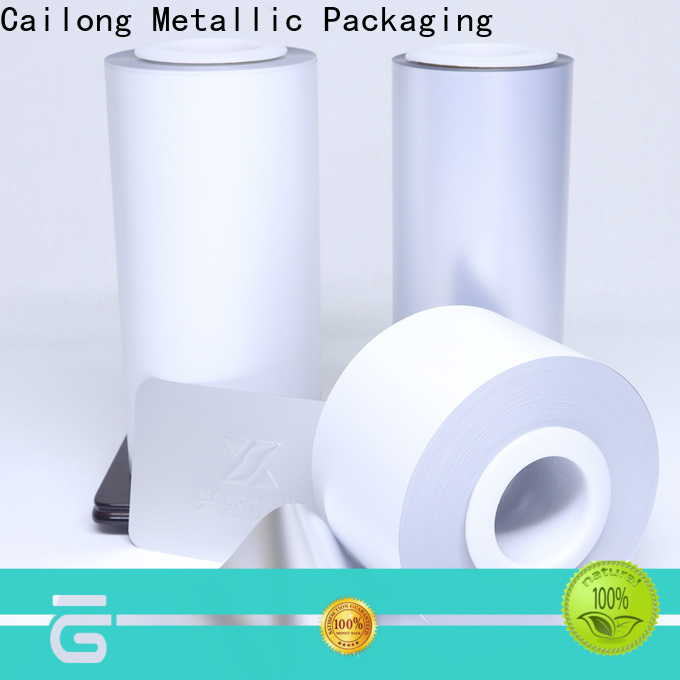 Cailong petts pvc film certifications for cosmestics