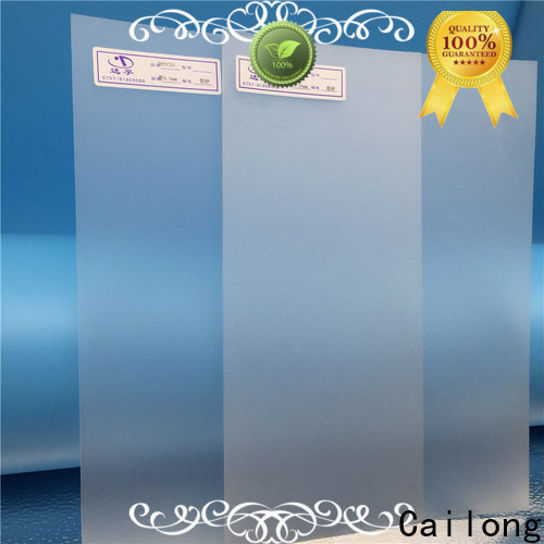 Cailong clear plastic sheets factory price for optical lenses