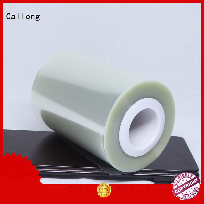 Cailong antiuv plastic film roll bulk production for advertising
