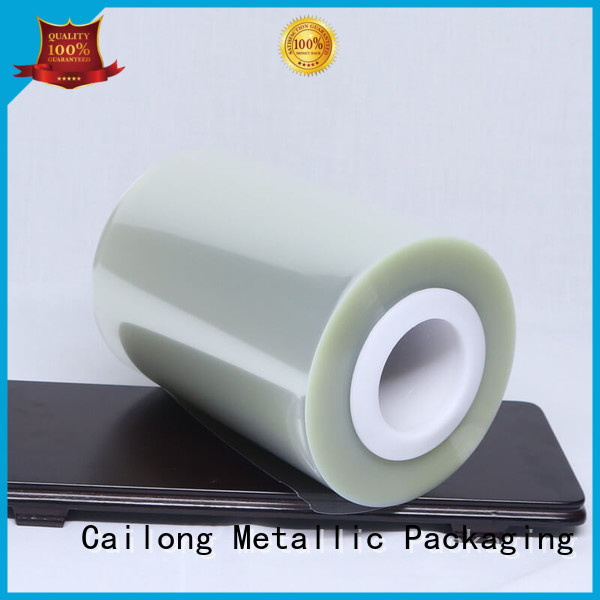 humanized ultra thin pet film bulk production used for labels Cailong