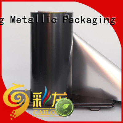 thin metallised polyester metallizing for decorative materials Cailong