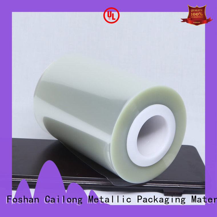 Cailong twist clear mylar film roll free design decorative materials