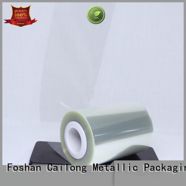 Cailong twist clear plastic film bulk production decorative materials
