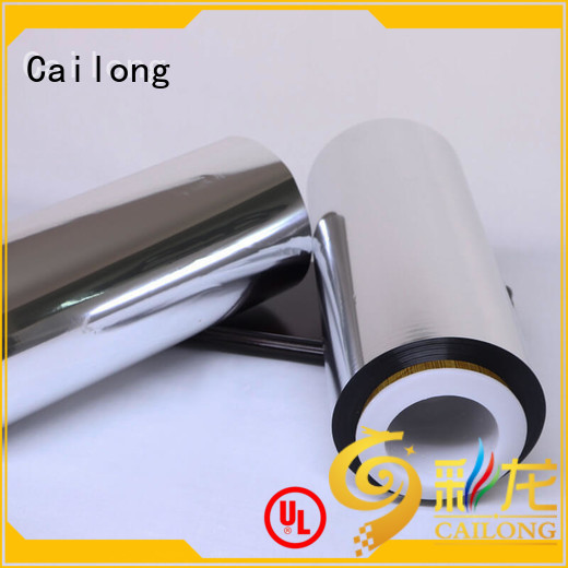 Cailong Brand pvc pe metallized film manufacture