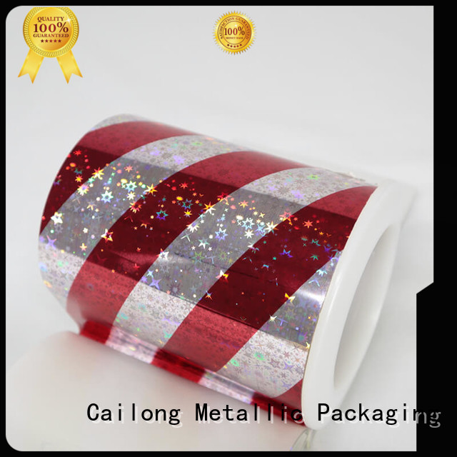 Cailong holographic pet holographic film at discount for Tinplate