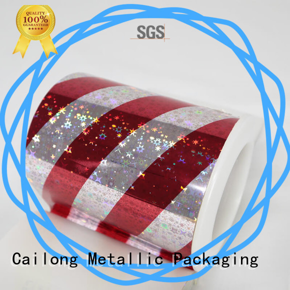 Cailong Textured pet holographic film at discount for daily chemicals