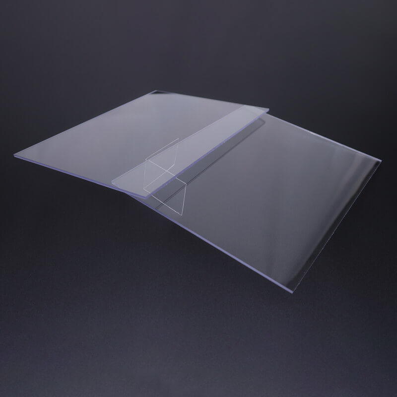 Transparent transparent polycarbonate sheet flame for liquid crystal displays