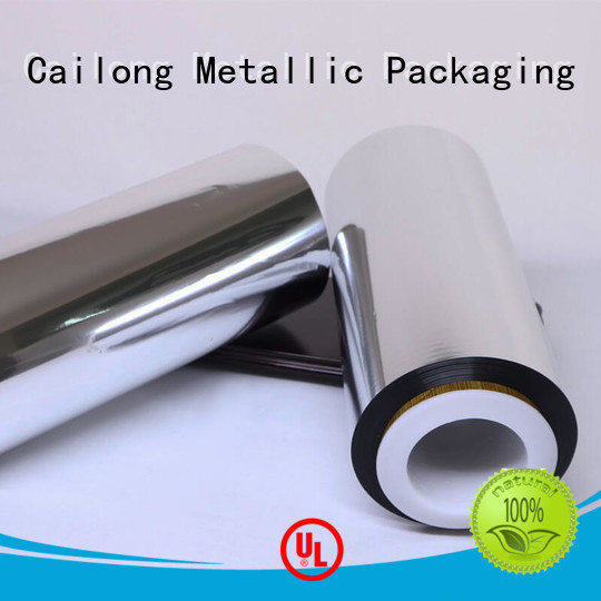 Cailong pet metallized polyester film at discount for medical packages