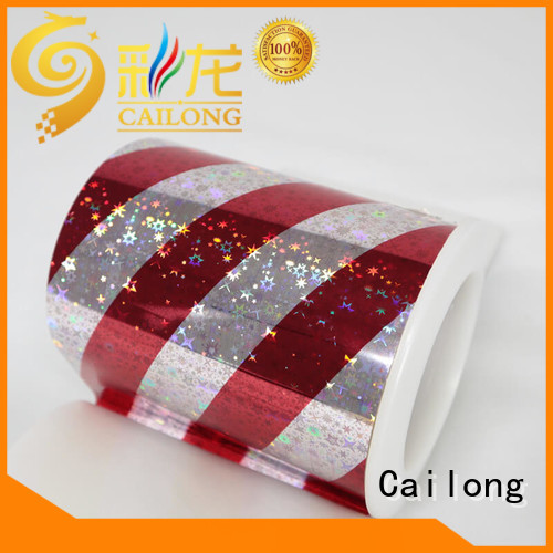 stable holographic plastic sheets film bulk production for tobacco