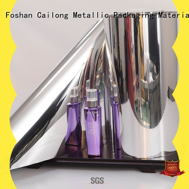 Cailong vmpetjq pet metalized cost for shopping bags