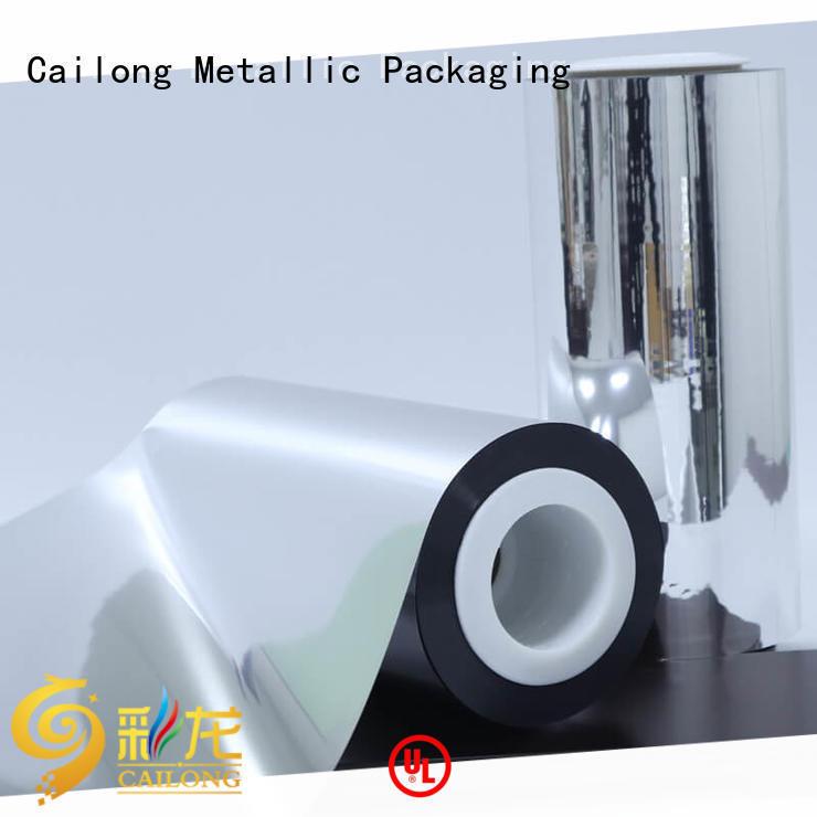 Cailong ultra metallised polyester popular for shopping bags