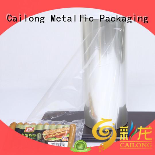 Cailong Retortable transparent foil certifications for candy