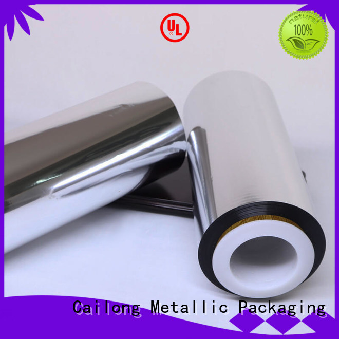 Cailong metallized plastic from manufacturer for decorative materials