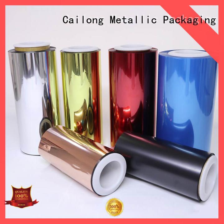 Cailong pet transparent sheet matte for packing foor