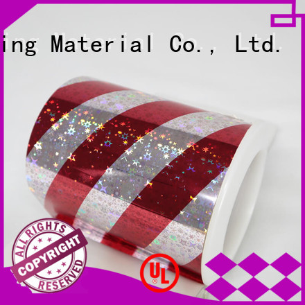 holographic film roll transparent for non-woven composite Cailong