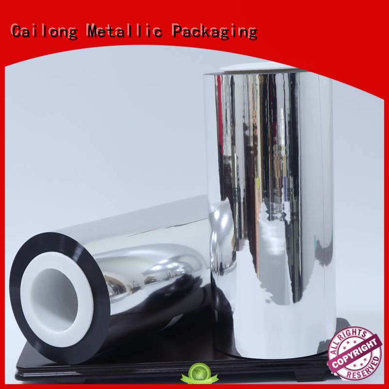 vmpetjq metalized foil gloss for decorative materials Cailong