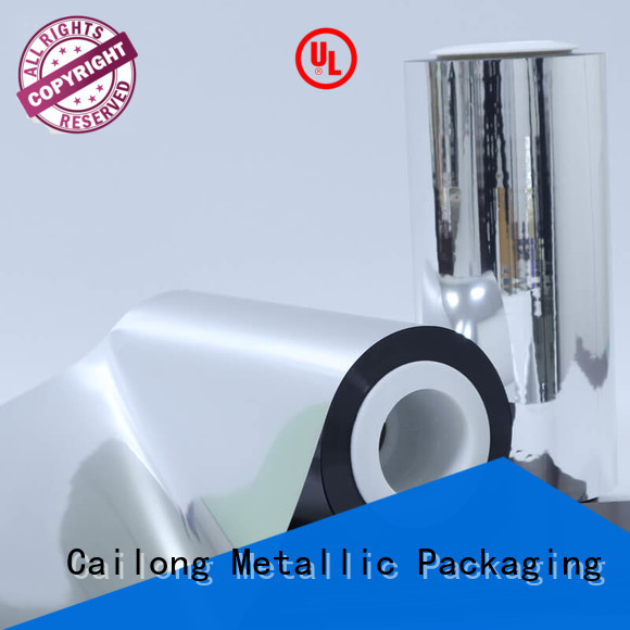 Cailong vmpet metalized mylar experts for product