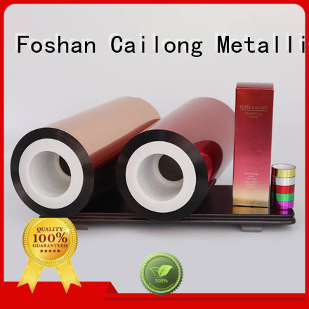 Cailong color transparency film supply for labels