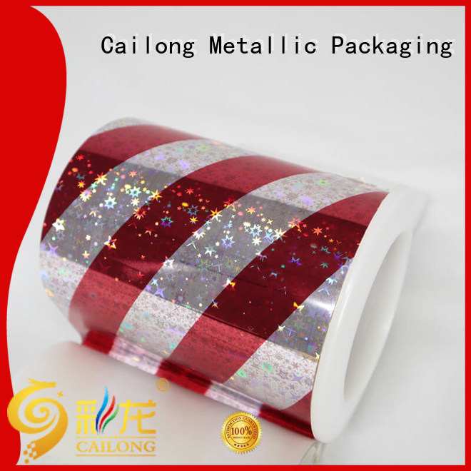 reliable transparent holographic film for woven bag