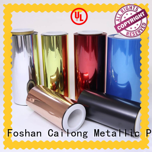 Cailong white colored polyester film supplier for electronics