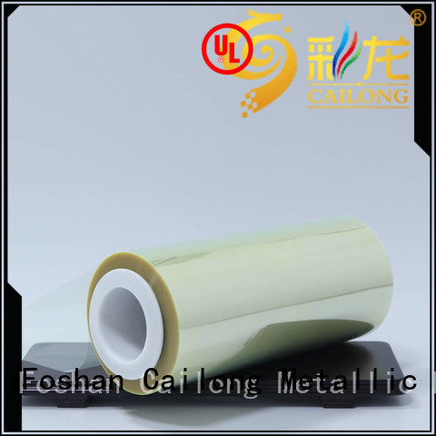 Cailong solid ultra thin pet film vendor used for labels