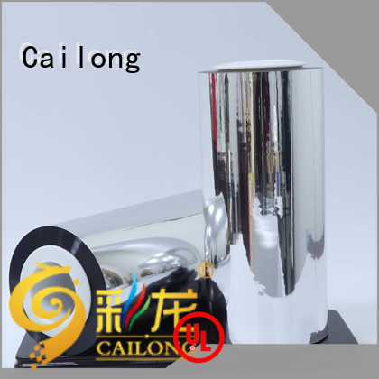 Cailong chemical pet metalized China used for stickers