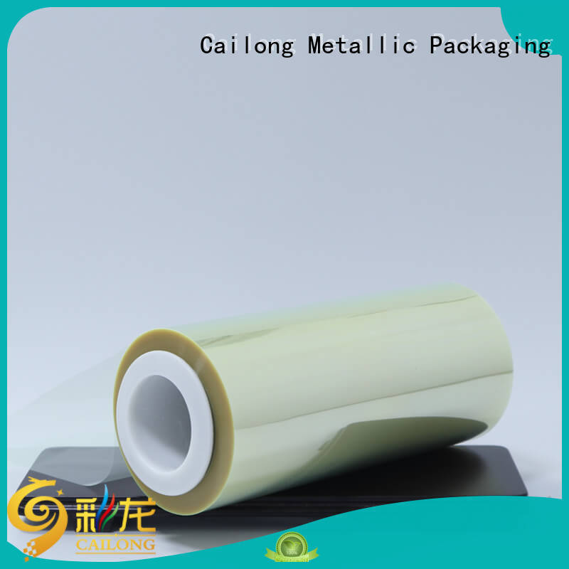 Cailong humanized  clear mylar film roll heat for shopping bag