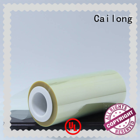anti polyester pet film transparent for stickers Cailong