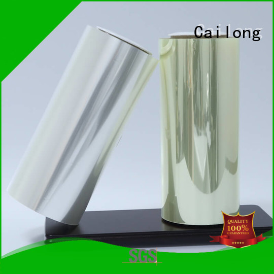 Cailong advanced polyester pet film twist for stickers