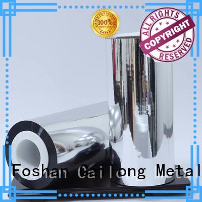 Cailong vmpetgz polyester foil popular ffor Decorative