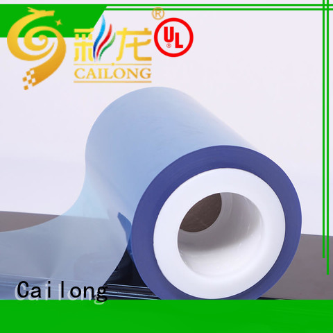Cailong white plastic film vendor for labels