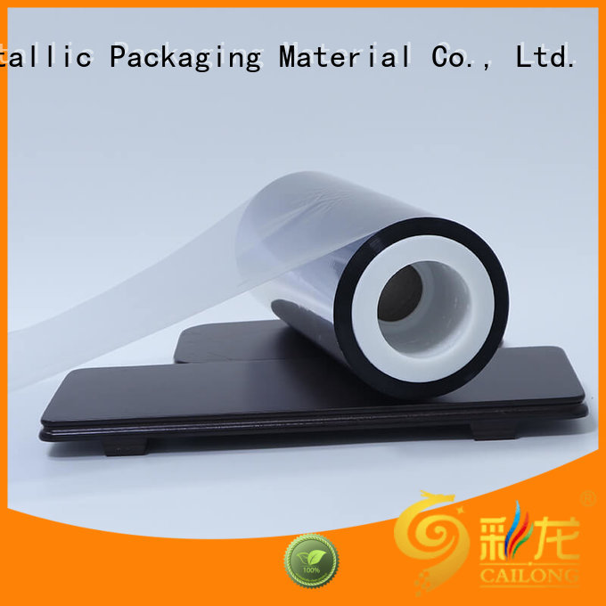 Cailong High flex crack resistance metallised film marketing for decorative materials