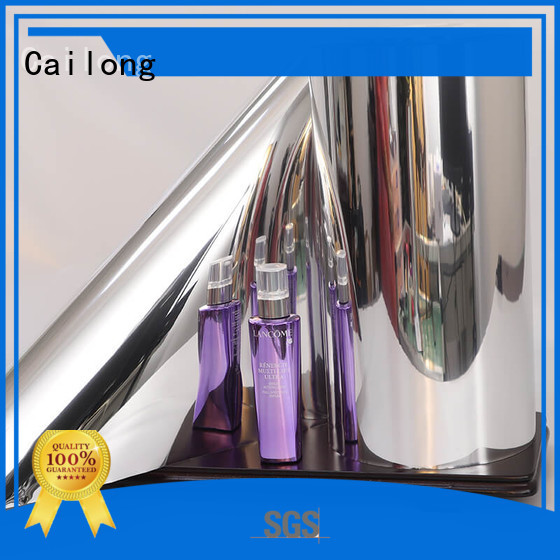 Cailong Good Thermal Insulation metalized pet film used for stickers