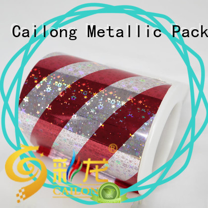 Cailong Textured holographic plastic sheets bulk production for Tinplate