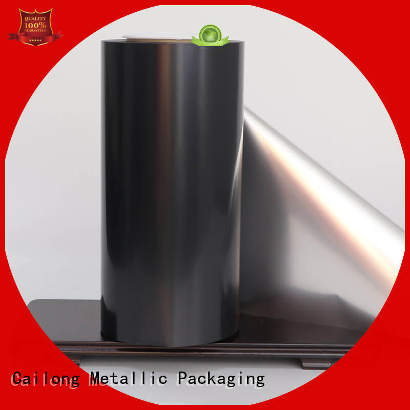 High flex crack resistance metallised polyester film China used for stickers Cailong