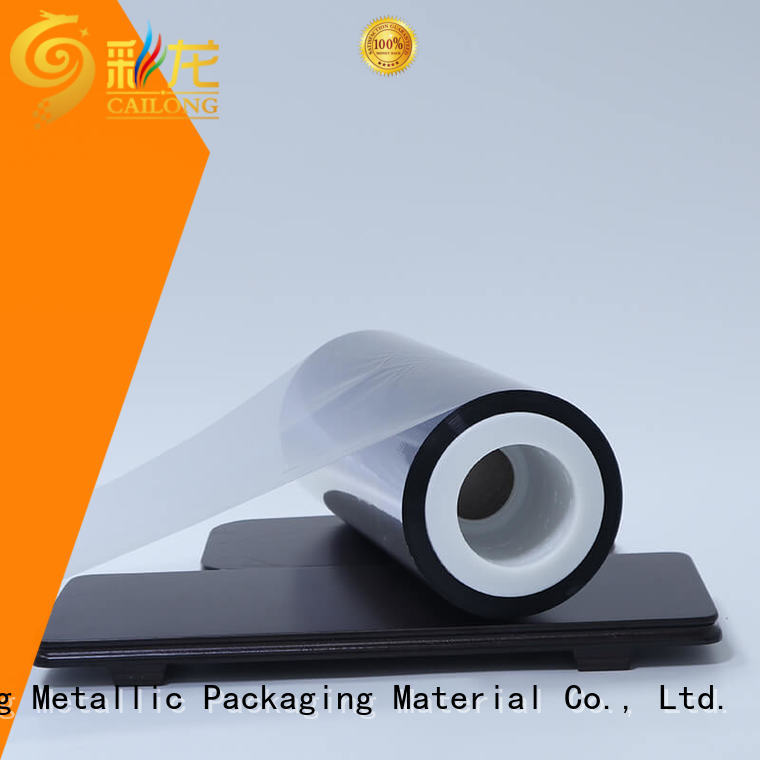 Cailong vmpetgl metalized paper owner used for stickers